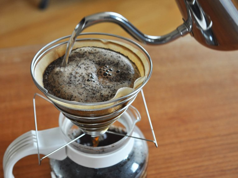 Café filtrado ou